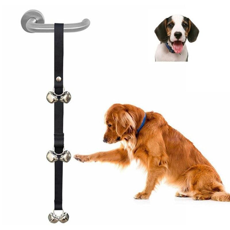 Dog Doorbells For Dog Training And Housebreaking Clicker Door Bell Pet Puppy Dogs Train Door Bell Leash Drop Shipping #LR2-0