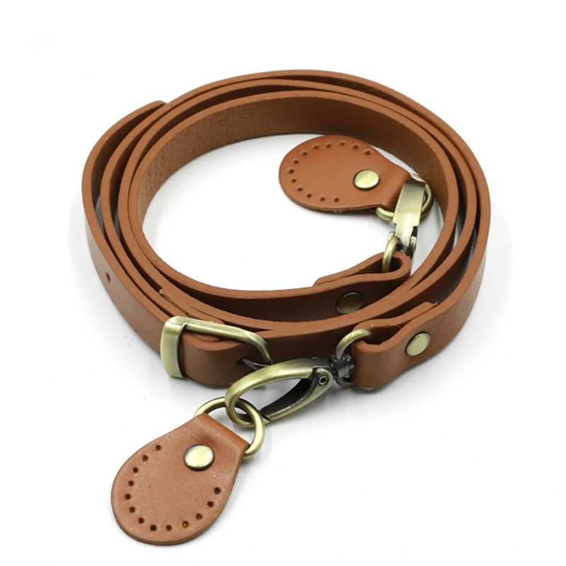 120cm PU Leather Shoulder Bag Belt Strap with Metal Buckles Crossbody DIY Replacement Accessories