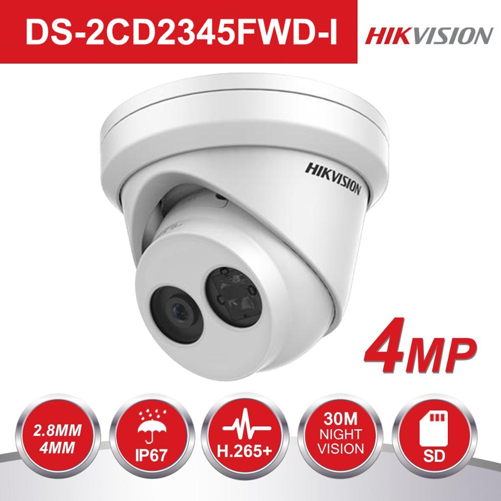 Original Hikvision Darkfighter PoE IP Camera outdoor DS 2CD2345FWD I 4MP Turret Video Surveillance Security Camera