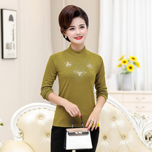 Spring Woman Bottming Blouse Flower Sequined Design Crew Neck Tops Women Black Yellow Red Purple Slim Fit Blouses Plus Size New plus size cutout bell sleeve sequined blouse