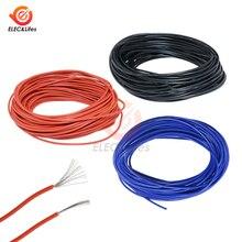 Extension de fil électrique en PVC isolé en cuivre, 10 mètres, 24 jauges AWG, bande LED, rouge/noir/bleu/jaune
