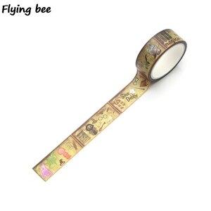 Image 3 - 20 sztuk/partia Flyingbee 15mmX5m akademia magii Washi taśma klejąca DIY dekoracyjna taśma klejąca artykuły papiernicze taśmy maskujące materiały X0288