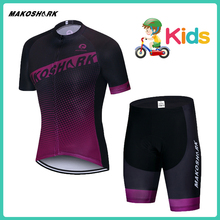MAKOSHARK ChildrenS Jersey Set Summer Road Bike Racing Cycling Clothing Riding Boys Clothes Shorts Kids Team Sets New 2019