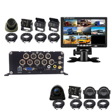 8 Channel video registrator Car DVR h265 1080P 4G GPS WIFI Mobile Truck Bus Train DVR Support 4TB HDD 512GB SD card недорого