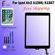 A1566 A1567 сенсорный экран дигитайзер стекло объектив сенсор 9,7 ''дюймов для Ipad air2 Ipad air 2 сенсорный экран стекло дигитайзер передний стекло