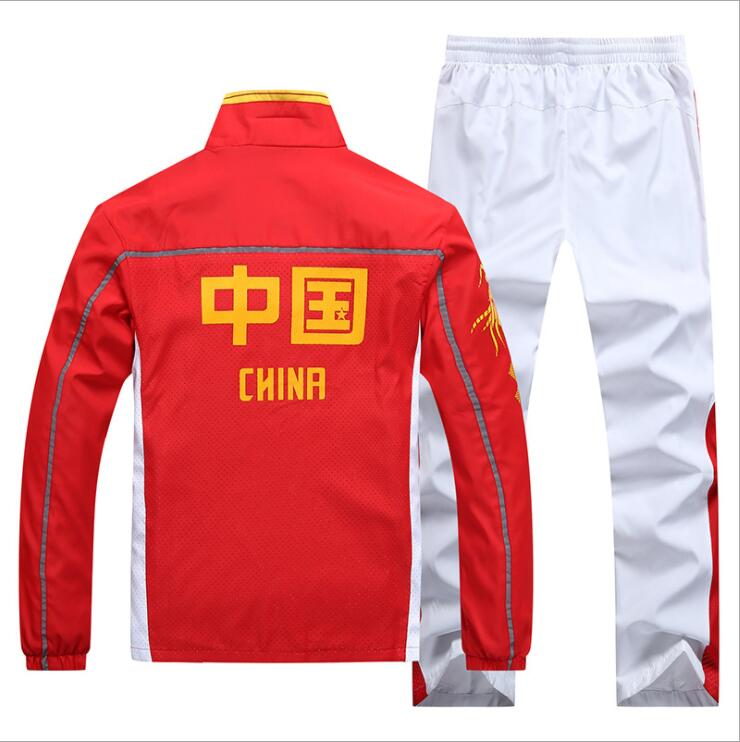 Spring Autumn Chinese National Team Sport Suit Long Sleeve School uniform for Students China Series Clothing Polyester Sportsuit