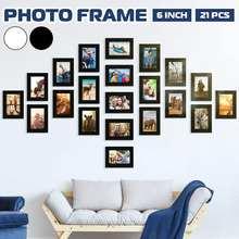 11 pçs foto quadro conjunto removível parede mural preto branco cor diy fotos quadros adesivo decalque casa sala de estar decoração