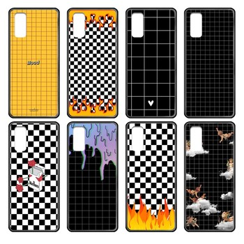 LGBT Black white checkered soft cover black Phone case cover hull For Samsung Galaxy J S 3 4 5 6 7 8 9 10 Prime Plus Lite Edge image