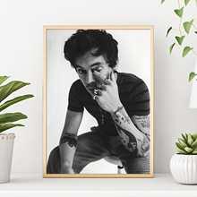 Украшение для дома картина холст Гарри стили принт плакат hd