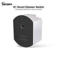 Sonoff D1 Intelligente Dimmer 433Mhz RF Controllato e Wi Fi Interruttore Regolare La Luminosità Della Luce di Lavoro via eWeLink APP Google Casa alexa