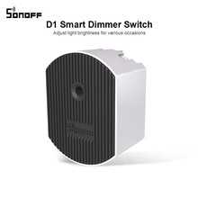 Sonoff D1 Smart Dimmer 433Mhz RF Controlled & Wi Fi Switch Adjust Light Brightness Work via eWeLink APP Google Home Alexa