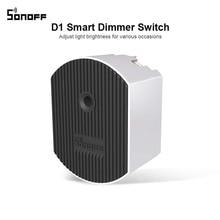 Sonoff D1 Smart Dimmer 433Mhz RF Gesteuert & Wi Fi Schalter Einstellen Licht Helligkeit Arbeit über eWeLink APP Google Hause alexa