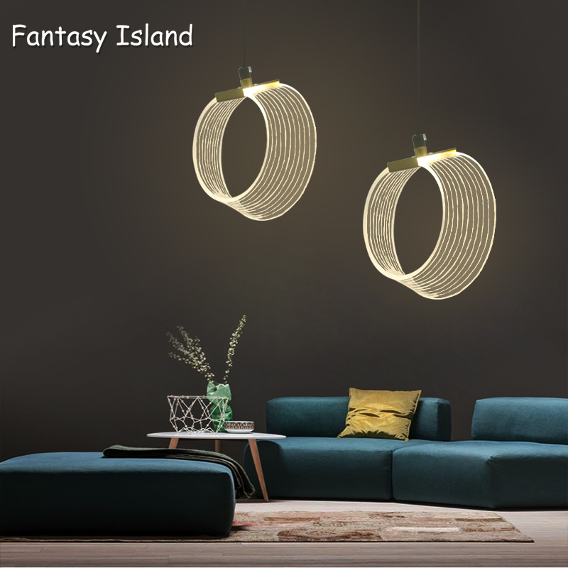 Modern Acrylic Luxury Pendant Light Pellucid Body Kitchen Hotel Hall Nordic Light Hanging Lamp Bedroom Art Pendant Lamp Lighting