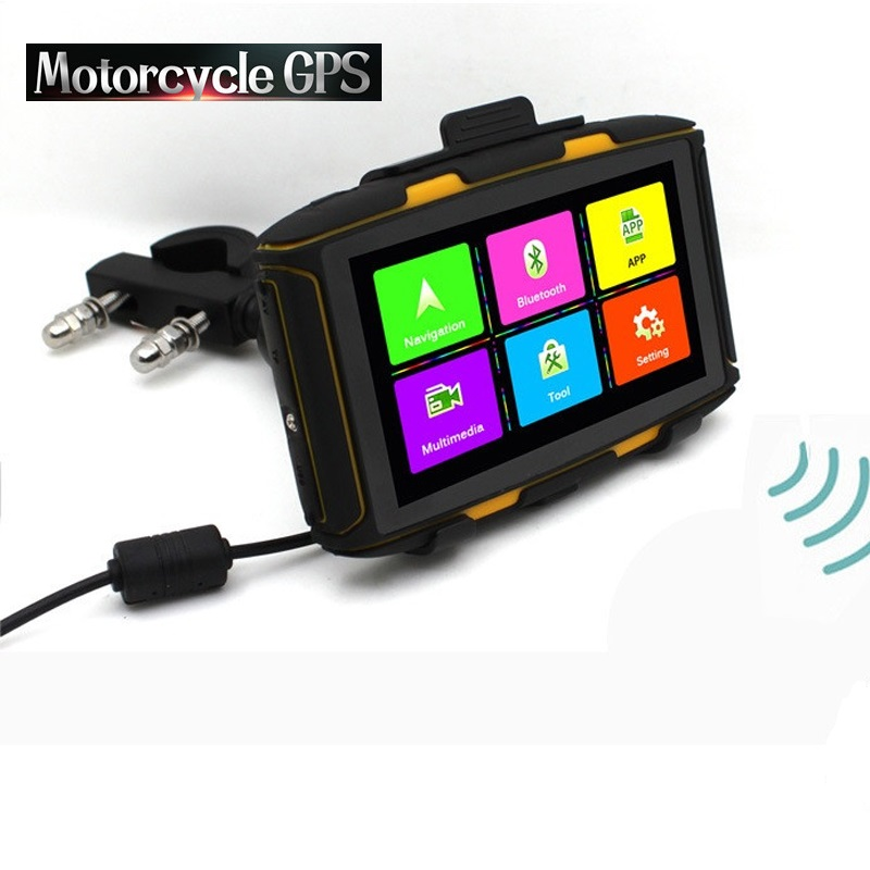 Android 5,0 inch GPS Navigator Motorrad IPX67 Wasserdichte GPS DDR1GB 8G ROM mit WiFi, play Store APP download, Bluetooth