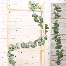 Artificial Eucalyptus Fake Plant Eucalyptus Greenery Fake Ivy Leaf Vines Rattan Simulations Wedding Party Home Decoration Leaves simulations
