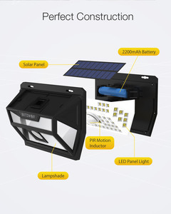 Image 4 - Blitzwolf BW OLT1 Smart PIR Motion Sensor Control Solar Power 62 LED Wall Light Lamp Waterproof for Outdoor Garden Path Yard