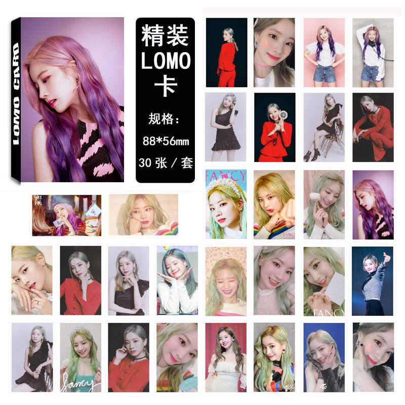 30 stks/set Kpop TWEEMAAL Kim DaHyun enkele Photocard set FANCY U album HD goede kwaliteit Foto kaart tweemaal kpop fans collectie