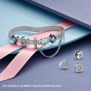 Image 4 - S925 argento del braccialetto di colore set FAI DA TE Bracciale con charms s925 Fit di lusso originale charms Braccialetto Delle Donne Gioielli regali per le donne