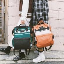 Women Backpack Canvas Harajuku Travel Bag Mini Shoulder Bag for Teenage Girl School Bag Bagpack Rucksack Knapsack Korean Style