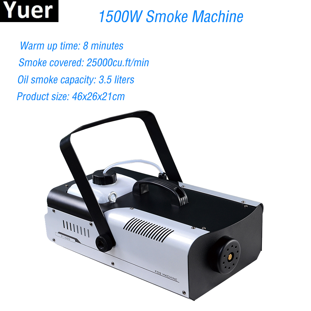 1500W Smoke Machine Remote Control Fog Machine Pump DJ Disco Smoke Machine For Party Wedding Christmas Stage Fogger Machine|Stage Lighting Effect| |  - title=