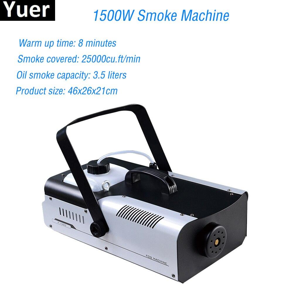 1500W Smoke Machine Remote Control Fog Machine Pump DJ Disco Smoke Machine For Party Wedding Christmas Stage Fogger Machine