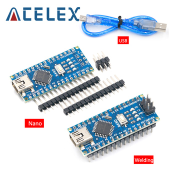 1PCS Promoção Para Placa arduino Nano 3.0 Controlador Compatível Atmega328 V3.0 WAVGAT Módulo placa de Desenvolvimento Pcb sem USB