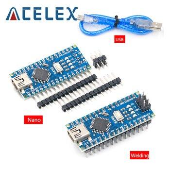 Carte de développement Compatible pour arduino Nano 3.0 Atmega328, Module WAVGAT, carte de développement PCB sans USB V3.0, 1 pièce, Promotion