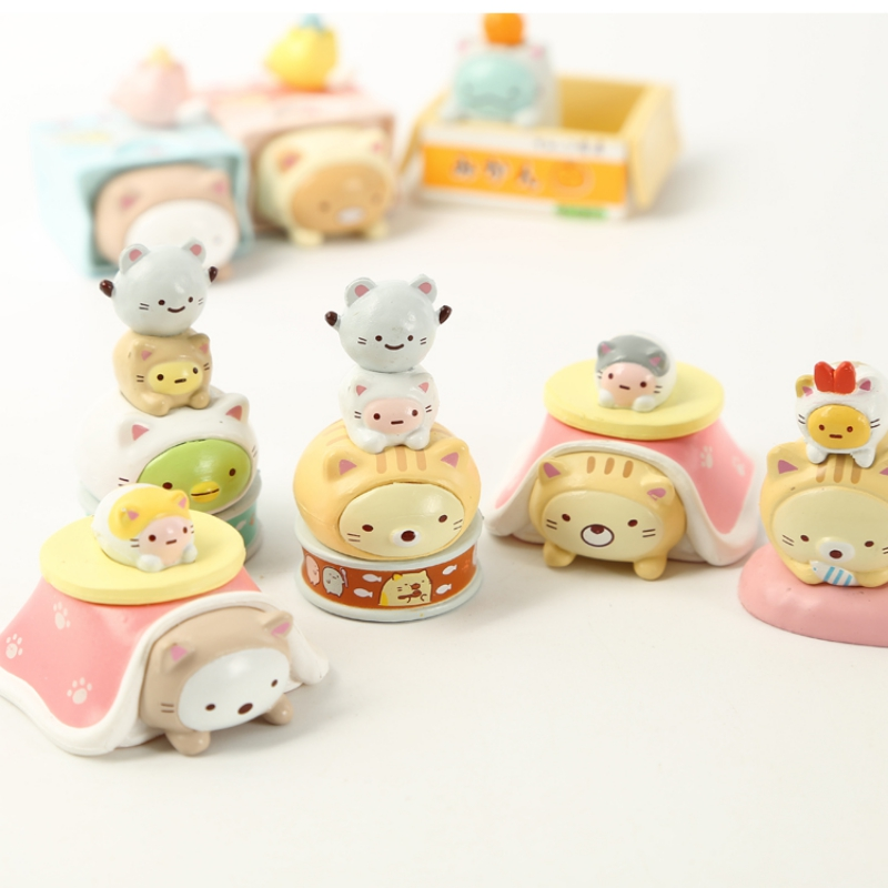 8 Pc Cute cartoon sumikko gurashi Doll Decoration Hand-made Model Cartoon Blind Box Gift-1