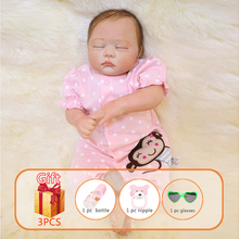 20 Inch Reborn Baby Doll Silicone Cotton Toy Simulation Soft Rubber Dolls Baby Sleeping Toys Gift For kids npkdoll 22 inch 55 cm reborn doll soft silicone dolls sleeping baby doll toy for kids fashion doll collection for children