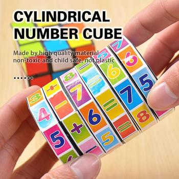 Magic Cylindrical Digital Arithmetic Toys Early Educational Montessori Cubes Children Play Game Learning Digital Fun Kids Toys image