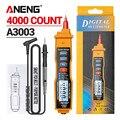 ANENG A3003 Digital-Multimeter Stift Typ Meter 4000 Zählt mit Nicht Kontaktieren AC/DC Spannung Widerstand Kapazität Hz Tester werkzeug