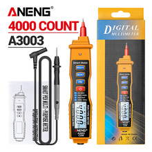 ANENG A3003 Digital Multimeter Pen Type Meter 4000 Counts with Non Contact AC/DC Voltage Resistance Capacitance Hz Tester Tool