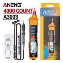 ANENG – multimètre numérique de Type stylo A3003, 4000 points, sans Contact, résistance à la tension AC/DC, outil de test de capacité Hz