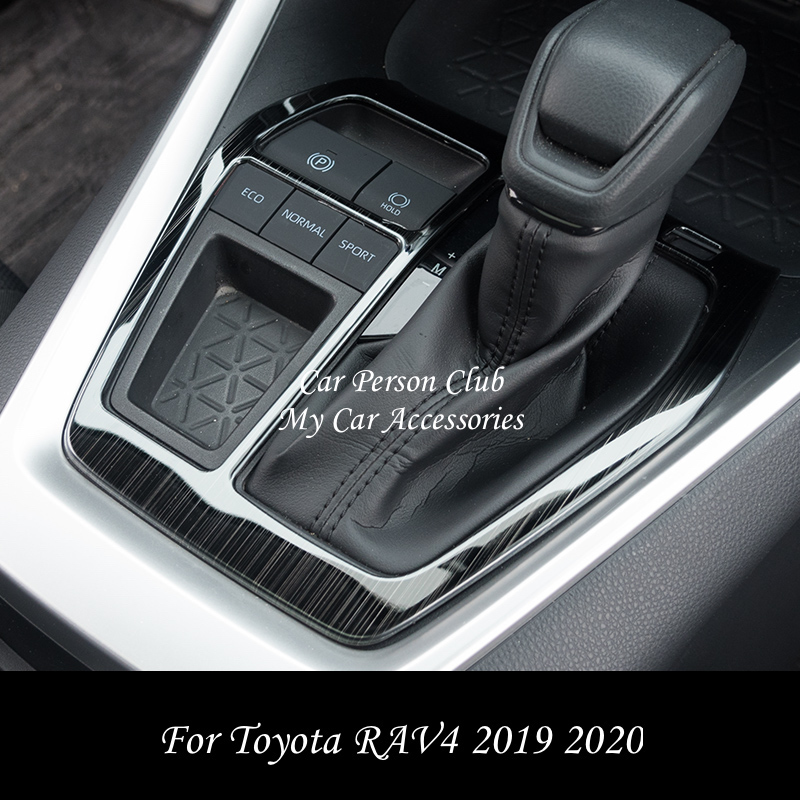 For Toyota RAV4 2019 2020 Interior Moulding Gear Shift Box Frame Cover Gearbox Trims Stainless Steel Stickers Car Accessories