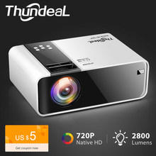 ThundeaL HD Mini Projektor TD90 Native 1280x720P LED Android WiFi Projektor Video Home Cinema 3D HDMI Film spiel Proyector(China)