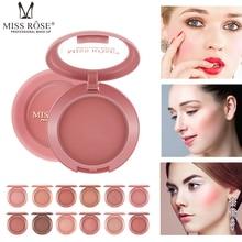 La srta. ROSE 12 colores Blush Natural larga duración piel color corrector Fundación mate Blush Rouge torta en polvo nuevo TSLM1