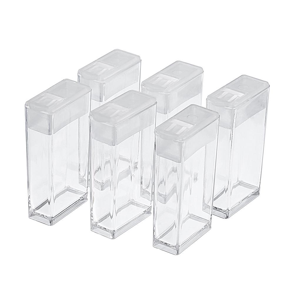 6pcs/192pcs Rectangle Plastic Bead Storage Containers 50x27x12mm Hole: 9x10mm Packing Box: 13x22.5x5.5cm