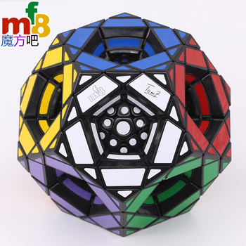 mf8 Magic Cube Dodecahedron Multiple Megamin Magic Puzzles Stickers Black Version Twist Wisdom Toys Gifts Educational Magic Game image