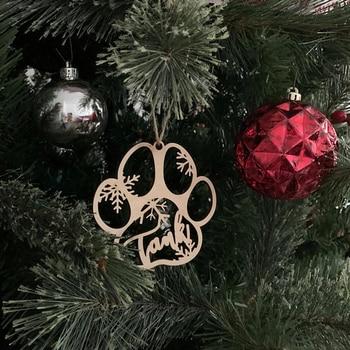 Dog Paw Christmas Ornament 2