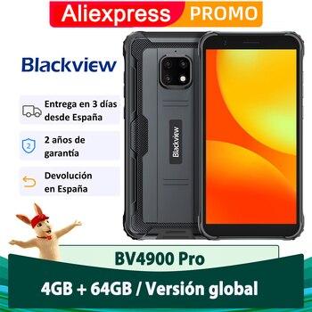 Перейти на Алиэкспресс и купить Blackview 4G Мобильный BV4900 Pro 4 Гб + 64 ГБ Android 10 5580 мАч NFC мобильный телефон воды IP68 Octa Core 5,7 дюйм (ов)