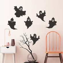 Funny Ghost Cartoon Pattern Window Decals Wall Stickers For Kids Rooms Removable Party Bedroom Wall Decor Room Decoration space navigation pattern removable cartoon wall stickers