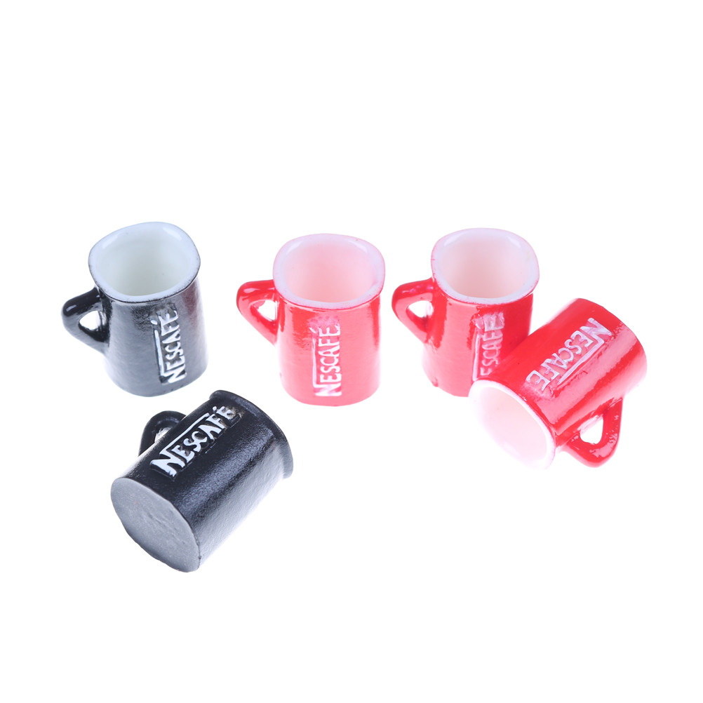 5pcs Mini Cup For Girl  Miniature Dollhouse Coffee Cup Kitchen Room Food Drink Home Tableware Decor Kitchen Furniture Toys