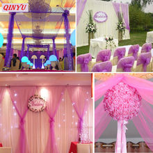 5m/10m Tulle Roll Fabric Gauze Spool Tutu Sheer Crystal Organza Tulle for Home Wedding Decoration Baby Shower DIY Shirt 5z(China)
