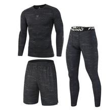 Hoge Kwaliteit Compressie Mannen Sport Suits Quick Dry Running Sets Kleding Sport Joggers Training Gym Fitness Trainingspakken Running