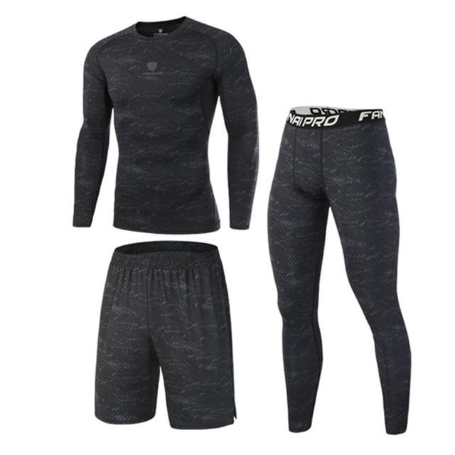 Hohe Qualität Compression Männer der Sport Anzüge Quick Dry Lauf sets Kleidung Sport Jogger Training Gym Fitness Trainingsanzüge Lauf