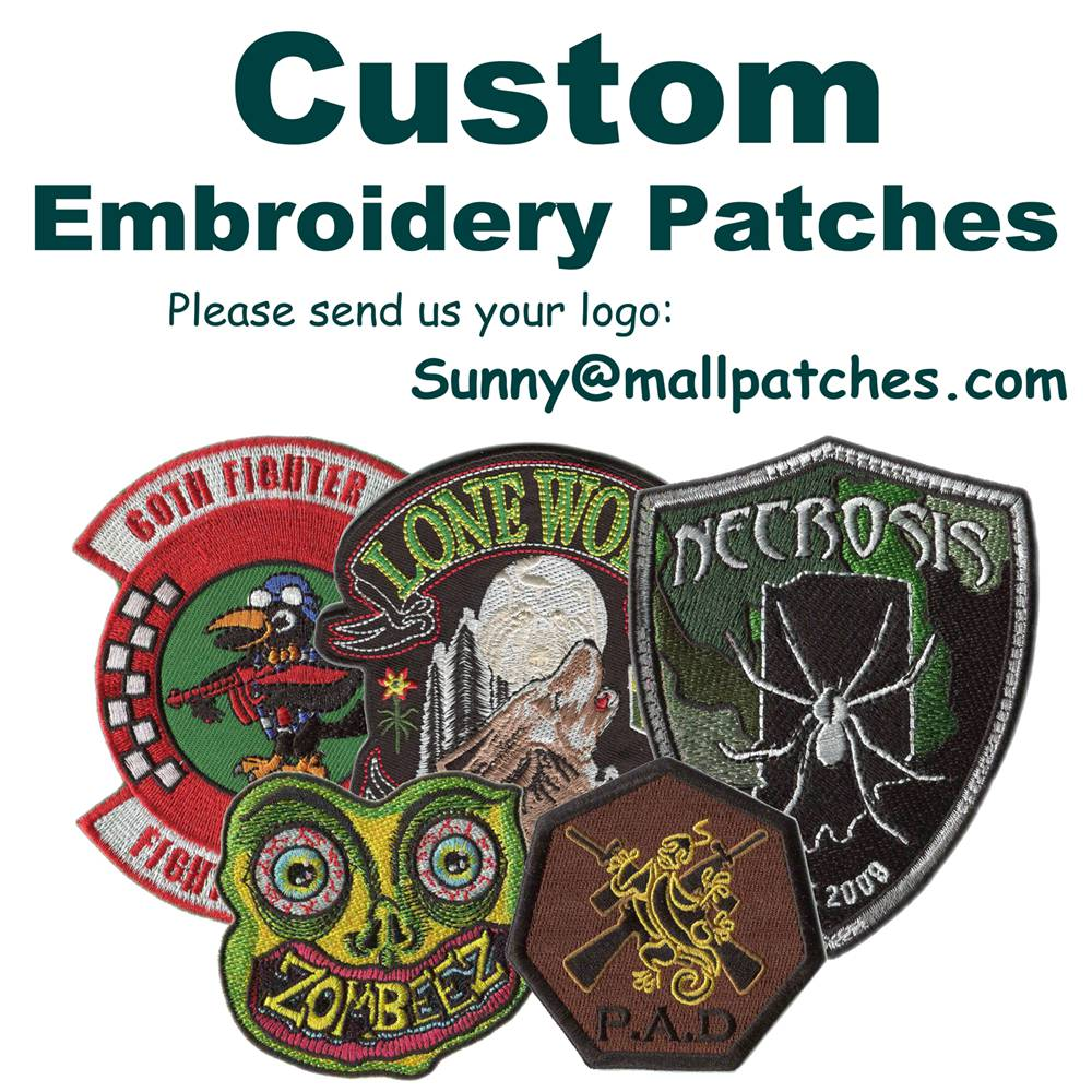 Custom Animal Patches Embroidery Patches For Garment Iron On Backing Patch