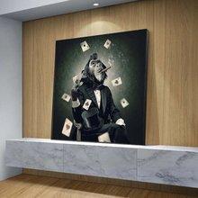 Картина на холсте для курения и игры с изображением обезьяны