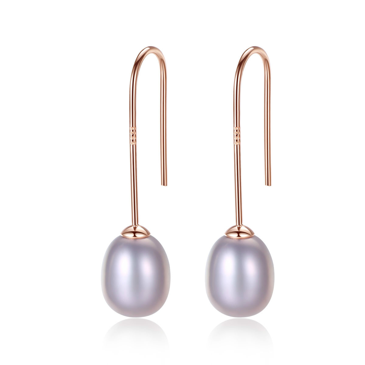 YUEYIN Pearl Earrings 8-9mm Natural S925 Pure Silver Ear Nails Jewelry Wholesale