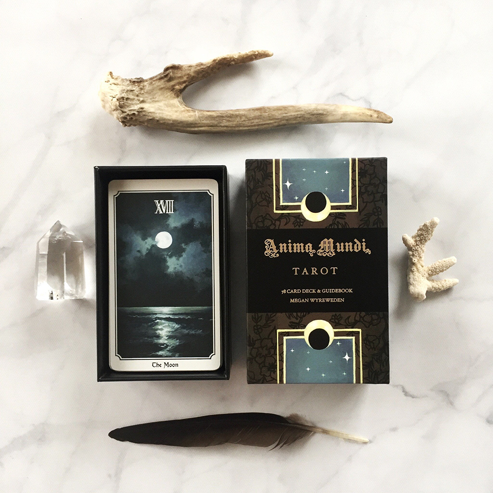 Anima Mundi Tarot Deck 78 Card Deck with Guide Book Nature Deck Occult Divination Cards Major and Minor Arcana Game Gilt Origin