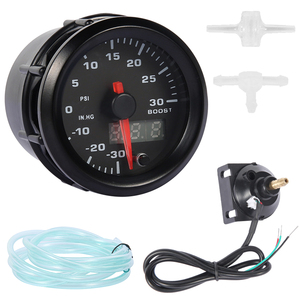 """Image 4 - 2"""" 52mm 7 Color LED Smoke Face Car Auto Bar Turbo Boost Gauge Meter with Sensor and Holder AD GA52BOOSTBAR"""
